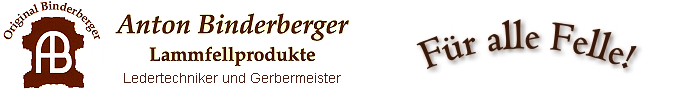 BINDERBERGER Online-Shop